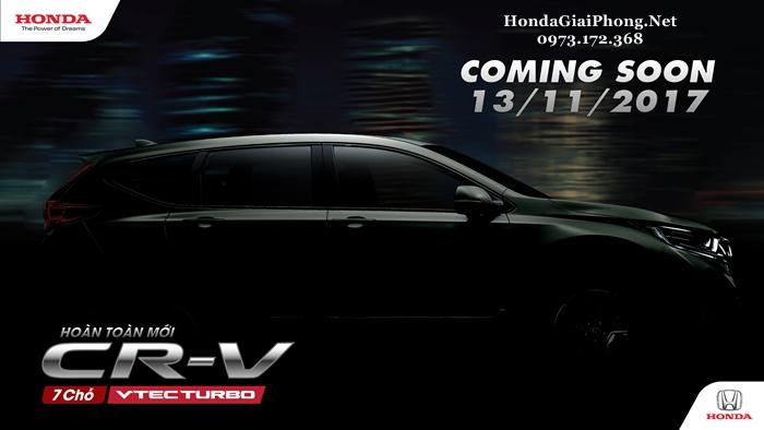 Honda CRV Việt Nam: Công bố thế hệ thứ 5 hoàn toàn mới